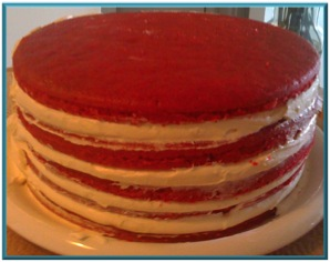 frosting multiple layers