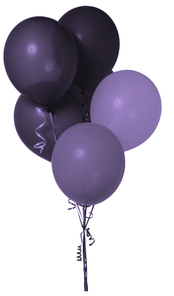Black balloons png